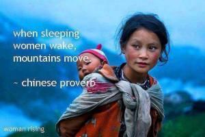 women wake mountains move